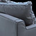 Canapé fixe 1,5 place en velours gris restanque-LENITA