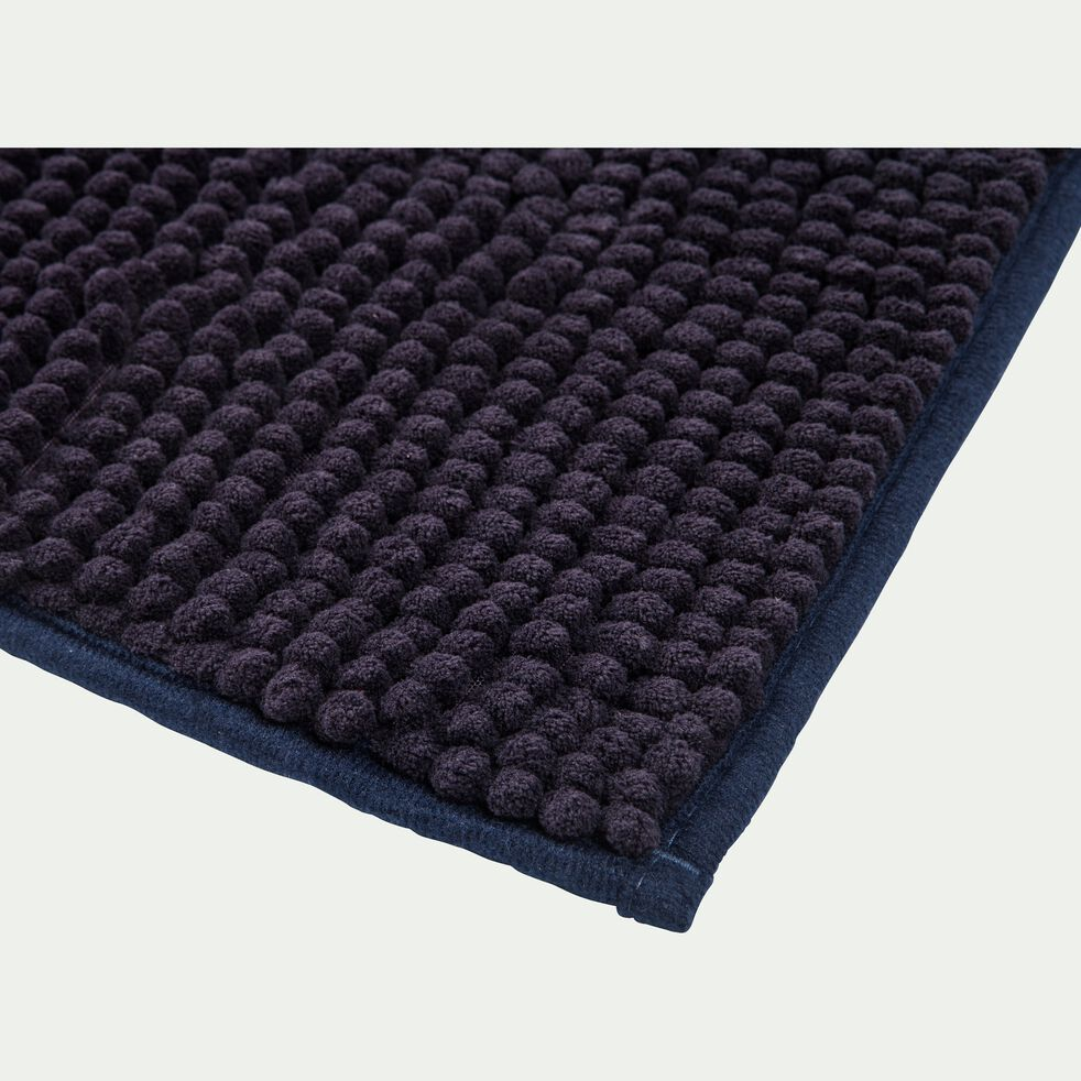 Tapis de bain chenille en polyester - gris calabrun 50x80cm-PICUS