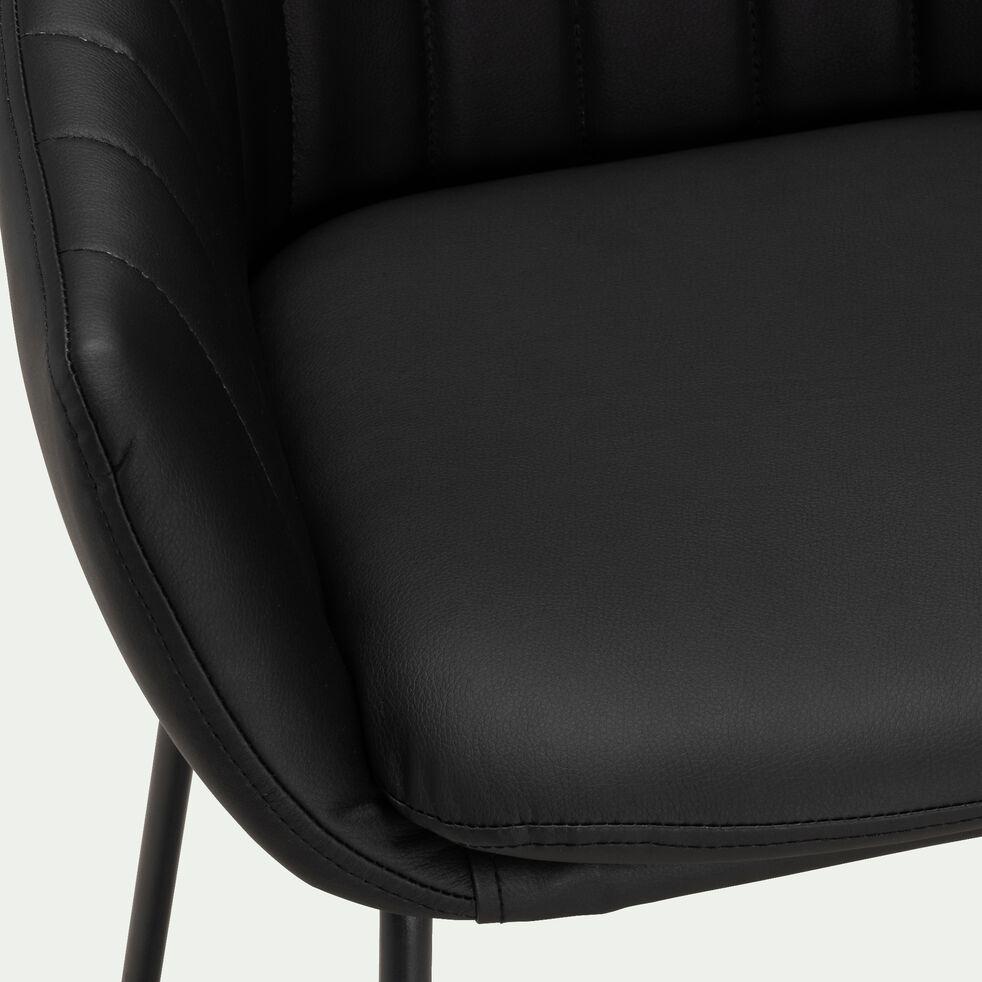 Chaise haute en polyuréthane - noir-OLBIA