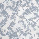 Housse de couette et 2 taies d'oreiller en coton motif floral - bleu 260x240cm-GRAMINEE