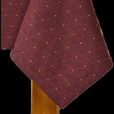 Nappe en coton violet à motifs 140x250cm-LYRE