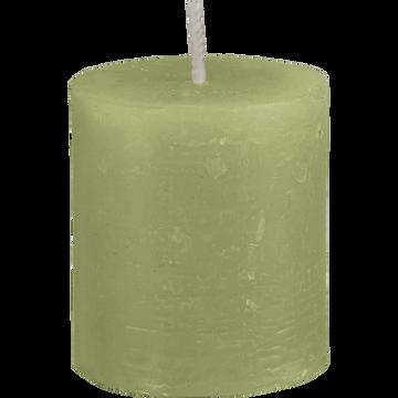 Bougie votive vert garrigue D4H5cm-BEJAIA