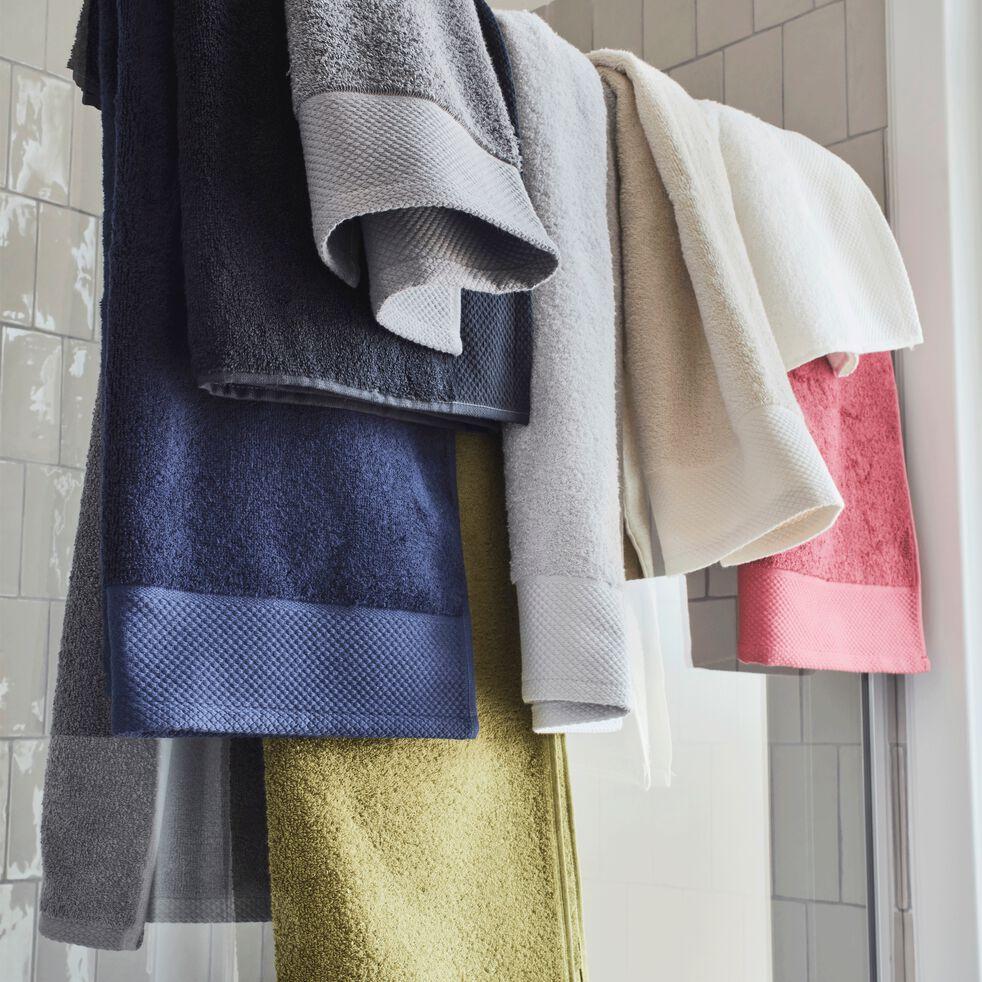 Serviette invité en coton peigné - blanc optique 30x50cm-AZUR