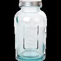 Bocal en verre recyclé avec bouchon 500G-STORAGE