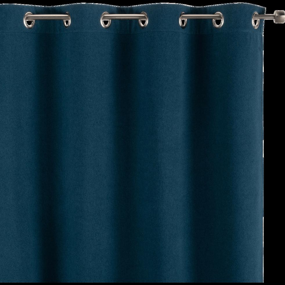 Rideau à œillets occultant bleu figuerolles 140x260cm-OTAWA