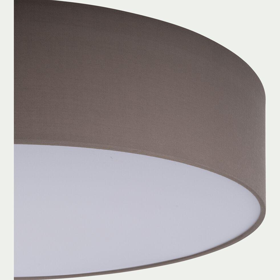 Plafonnier en tissu taupe D57cm-PASTERI