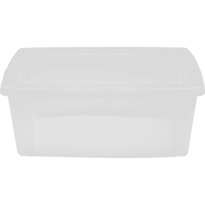 Boîte transparente en plastique avec couvercle 11L-MODULAR