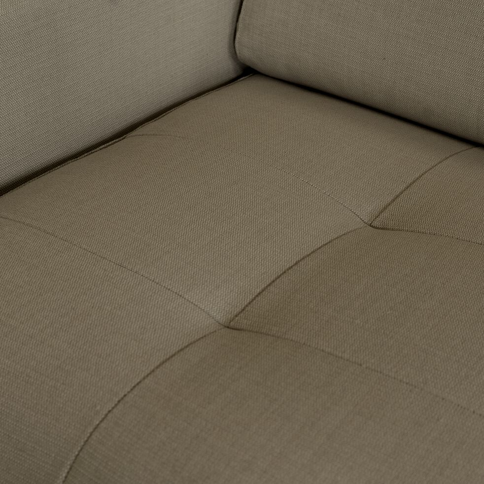 Canapé 4 places fixe en tissu avec angle reversible et accoudoir 15cm - taupe-MAURO