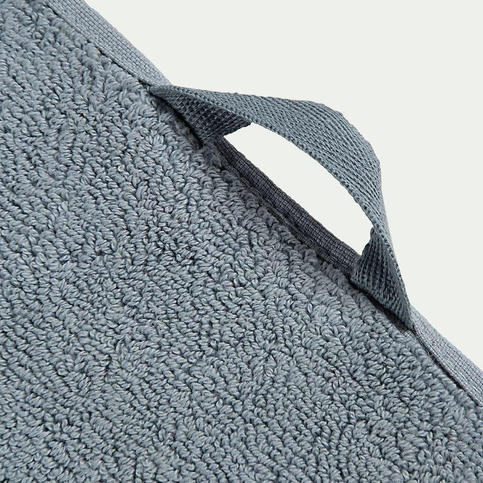 Tapis de bain en coton - bleu calaluna 50x80 cm-Ryad