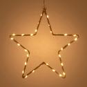 Étoile lumineuse en chanvre doré à suspendre H27cm-SYBILLE
