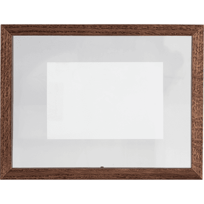 Cadre en frêne entre deux verres bois H26x20cm-FRENE