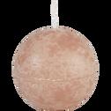 Bougie ronde rose argile D8cm-BEJAIA