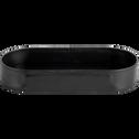 Vide-poche en cuir noir L12x25cm-EUGENIE