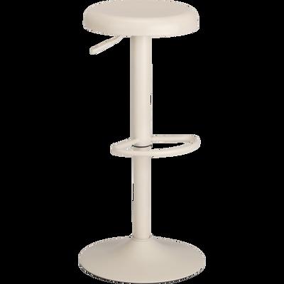 Tabouret de bar ajustable en métal beige roucas H59 à 81cm-CORIS