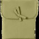 Taie de traversin en coton Vert guarrigue 43x190cm-CALANQUES