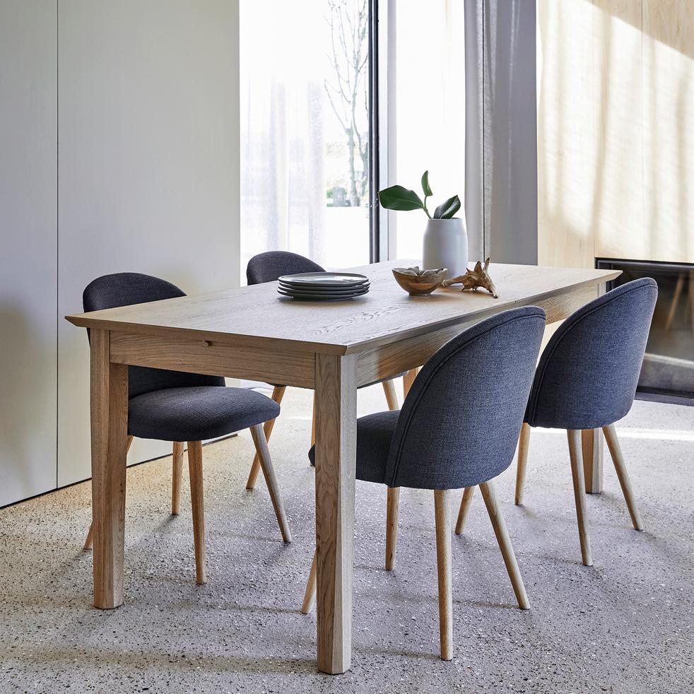 Table de repas extensible plaquée chêne - 6 à 12 places-STOCKHOLM