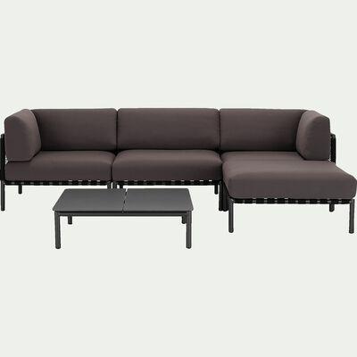 Salon intérieur/extérieur en aluminium gris (4 places)-ALEX