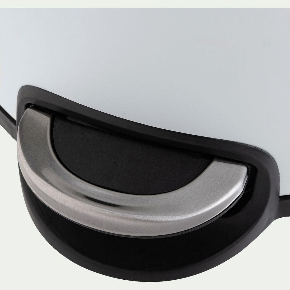 Poubelle à pédale en inox - blanc 30L-PAVOUN