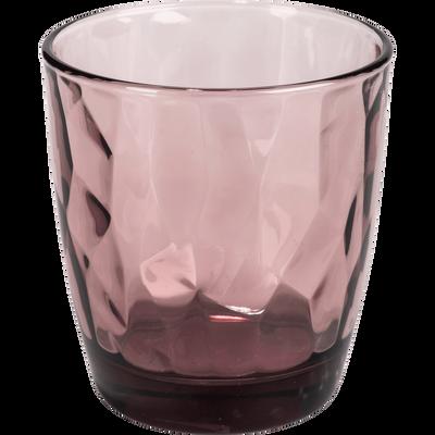 Verre violet décoré 30cl-LOTUS