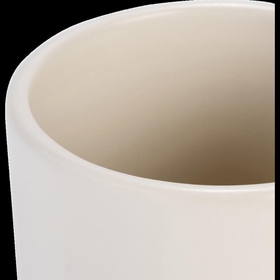 Vase en céramique blanc ventoux D12xH22cm-MARRA