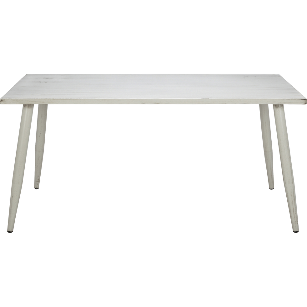 Table de jardin écrue en aluminium (6 places) - AUDREY - tables de ...