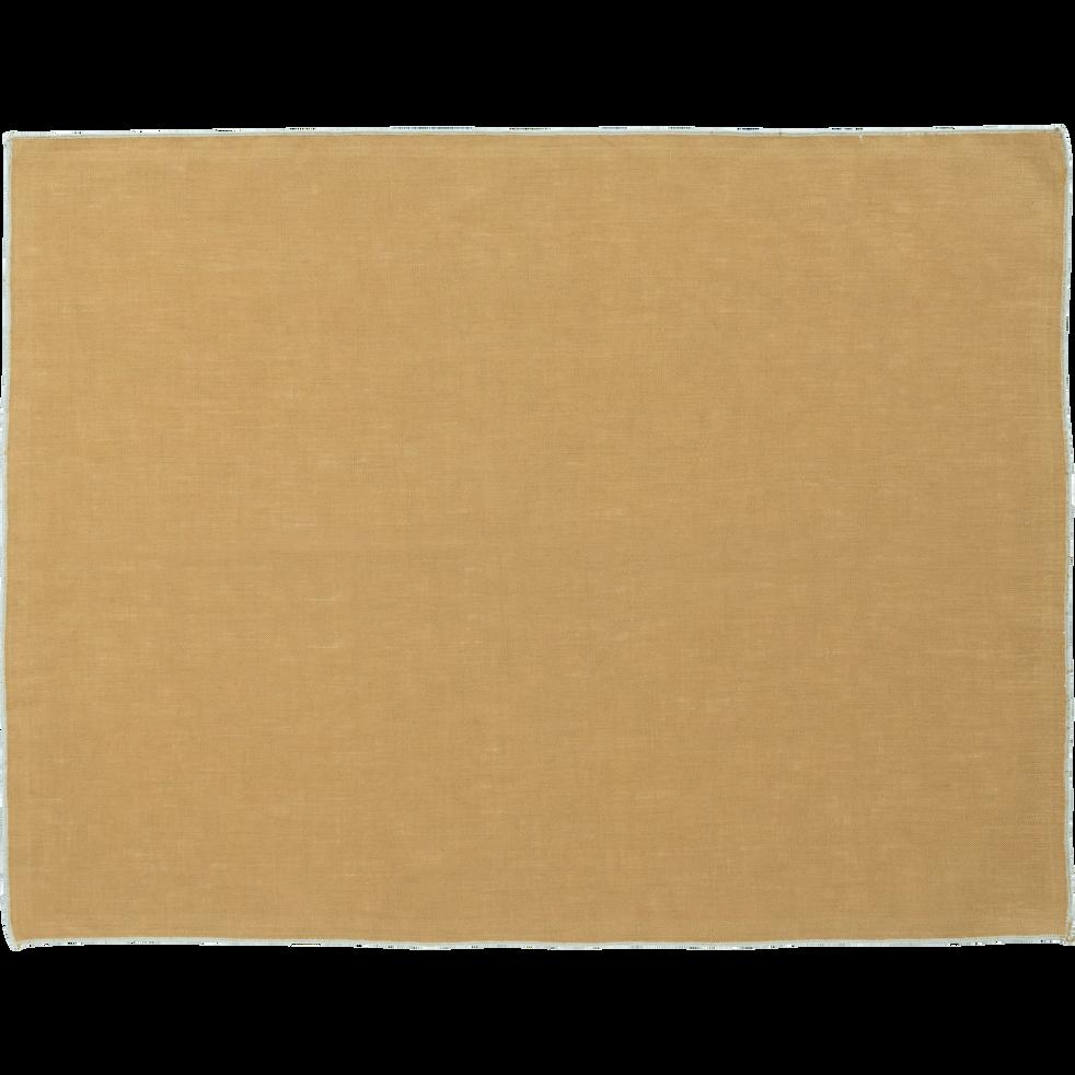 Set de table en lin et coton beige nèfle 36x48cm-MILA