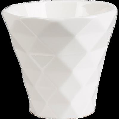 Mug géométrique en porcelaine blanche 20cl-OCTO