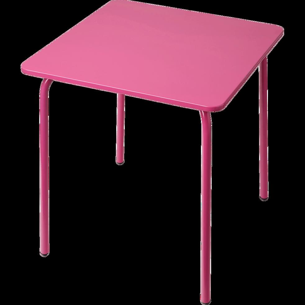 Table de jardin pour enfant rose-COTIA