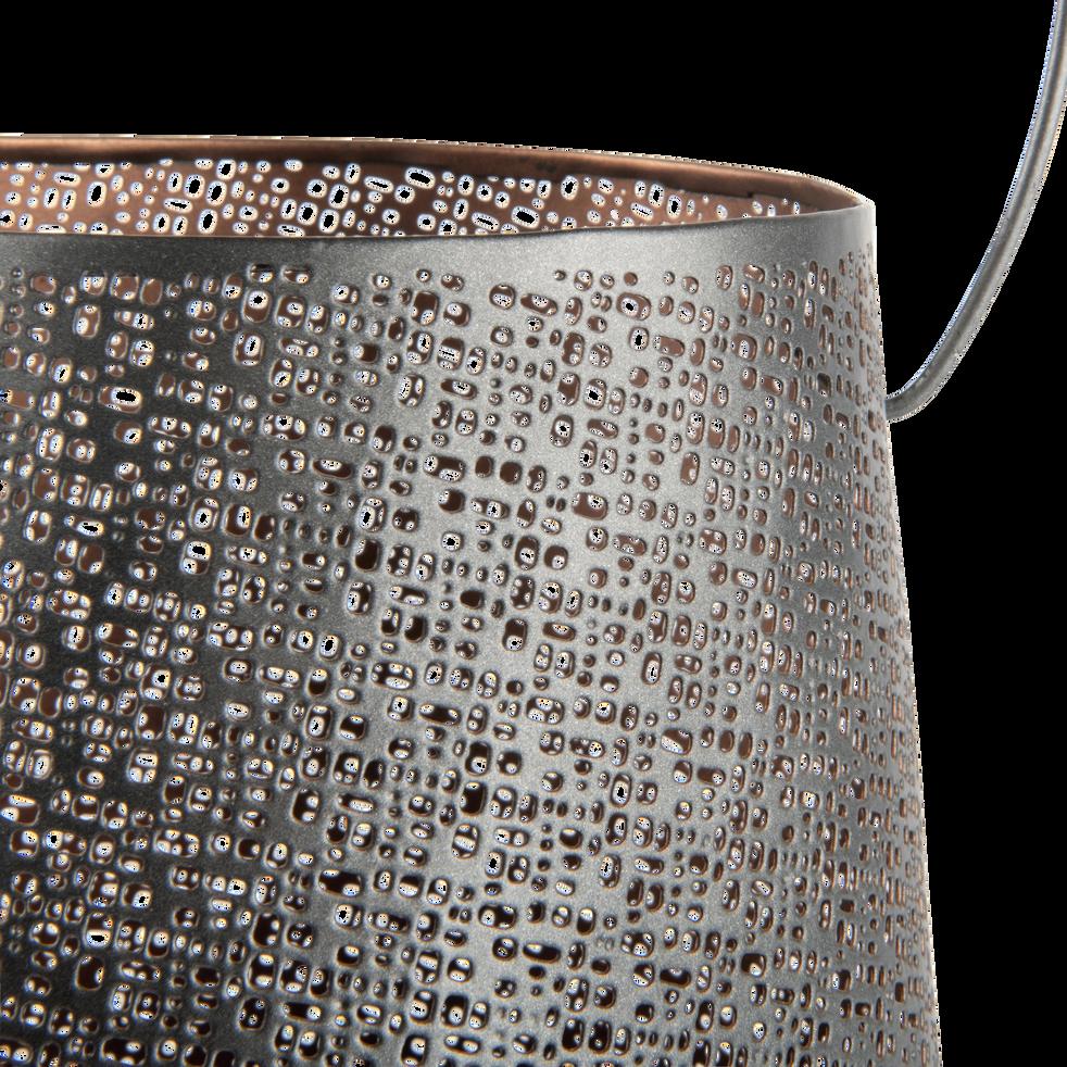 Lanterne en métal gris H23xH19cm-DJERBA