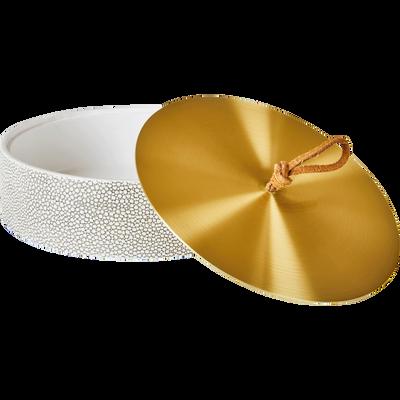 Boite à coton dorée-SALAVAN
