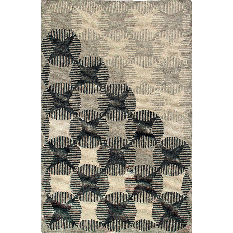 Tapis en laine gris et écru 160x230cm-MARCO