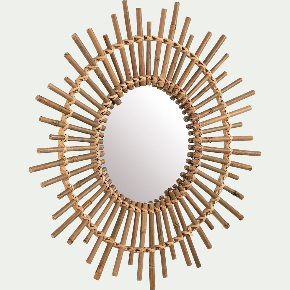 Miroir rond en bambou D60cm-BOTA