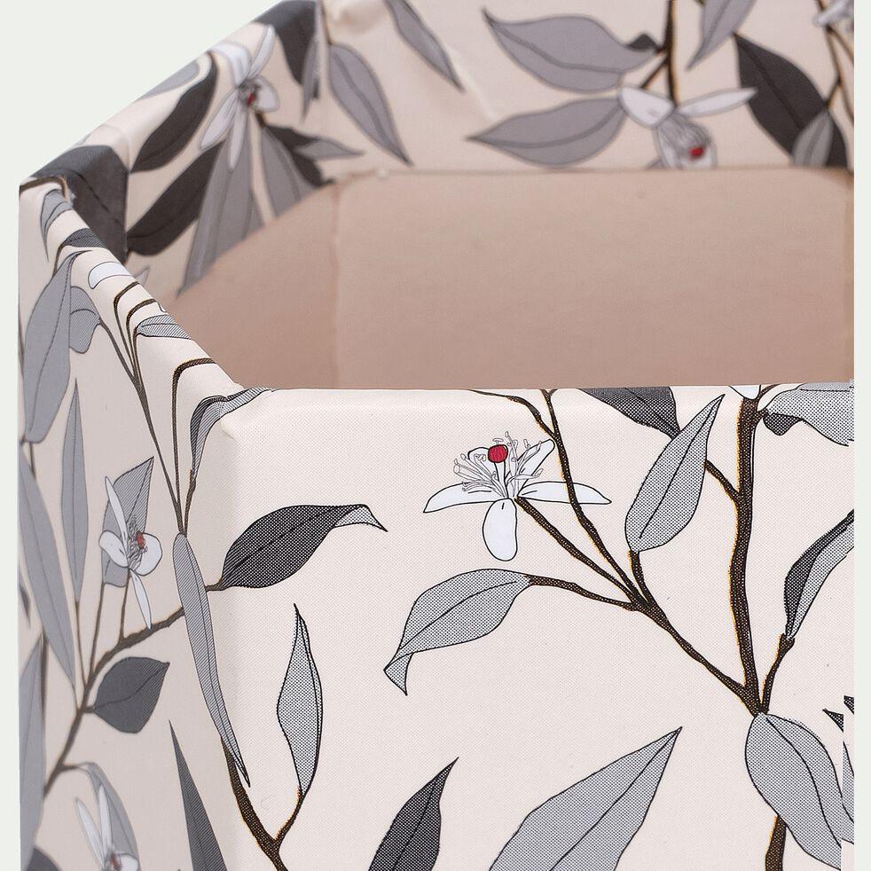 Pot à crayon en carton motif fleur d'oranger-ORANGER