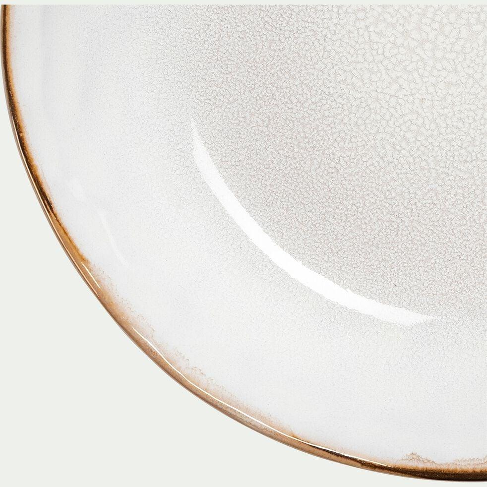 Assiette creuse en grès D20cm - blanc-AUCEL