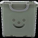 Bac de rangement 25L vert cèdre-ZACCHARIE