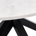Table de repas ronde en marbre blanc - 2 à 4 places-NAPOLI
