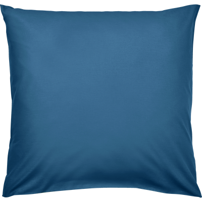 Taie d'oreiller en coton lavé bleu figuerolles 65x65 cm-CALANQUES