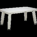 Table de jardin écrue en aluminium (6 places)-AUDREY