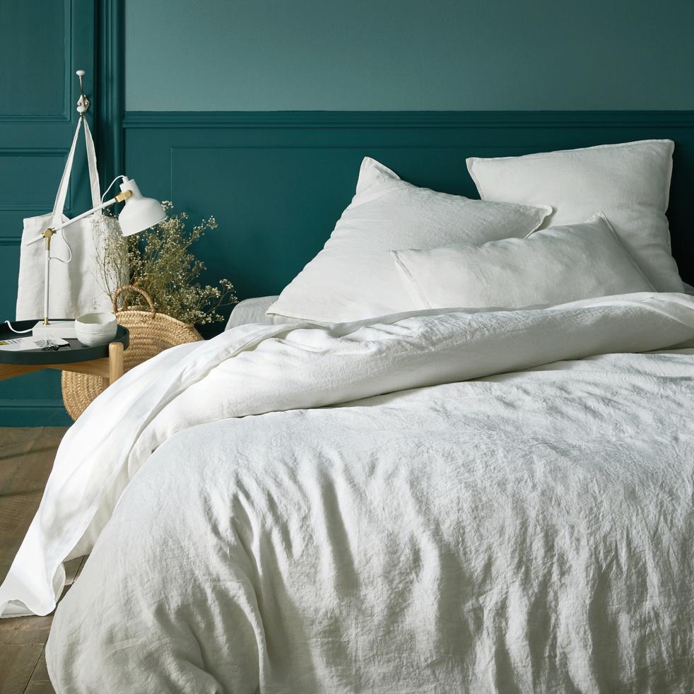 housse de couette en lin blanc capelan 240x220cm vence 240x220 cm catalogue storefront. Black Bedroom Furniture Sets. Home Design Ideas