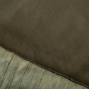 Edredon en coton vert olivier 180x100cm-LEVANTO