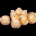10 boules de Noël en plastique doré D6cm-BAUS