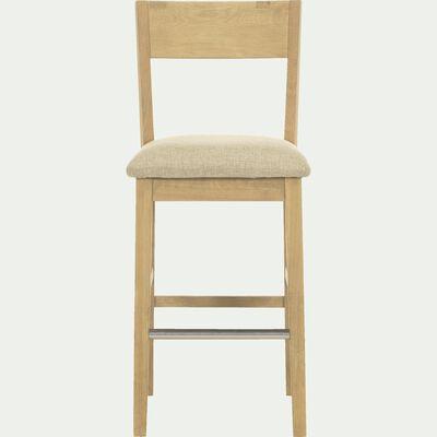 Chaise de bar en chêne massif - H66cm-Bonnie