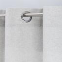 Rideau à œillets en polyester gris clair 140x250cm-CORBIN