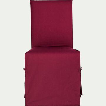 Housse de chaise en coton - rouge sumac-LILY