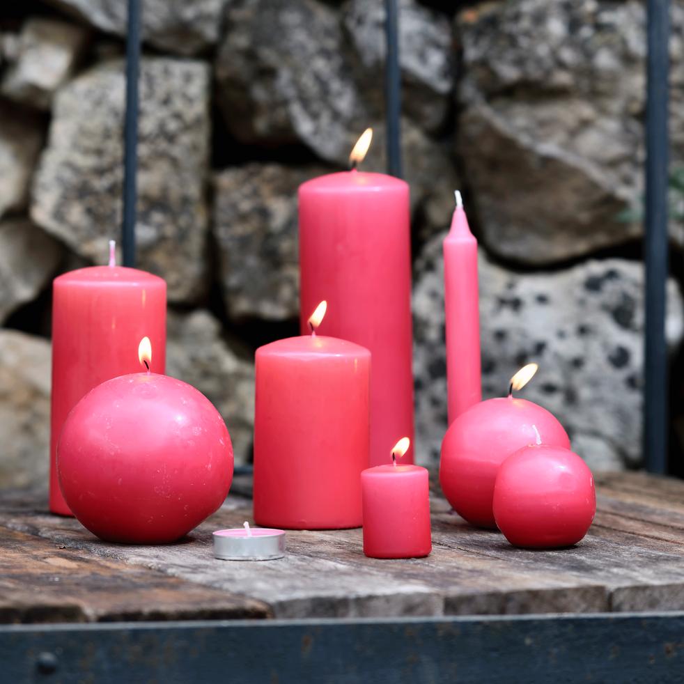 18 bougies chauffe-plats rouge arbouse-HALBA