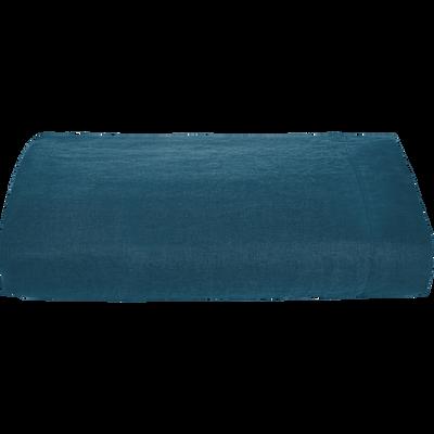 Drap plat en lin  bleu figuerolles 270x300 cm-VENCE