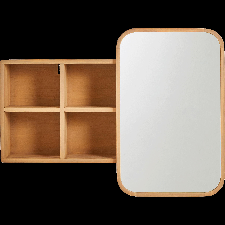 Miroir Rangeant Coulissant En Chêne L100cm HORTENSE