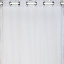 Voilage à oeillets gris borie 135x300cm-DUNE