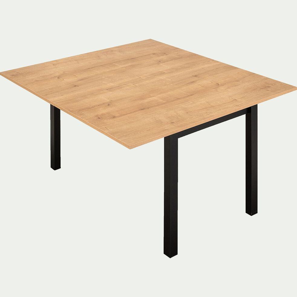 Table de repas extensible effet bois - 4 à 6 places-AMBRE