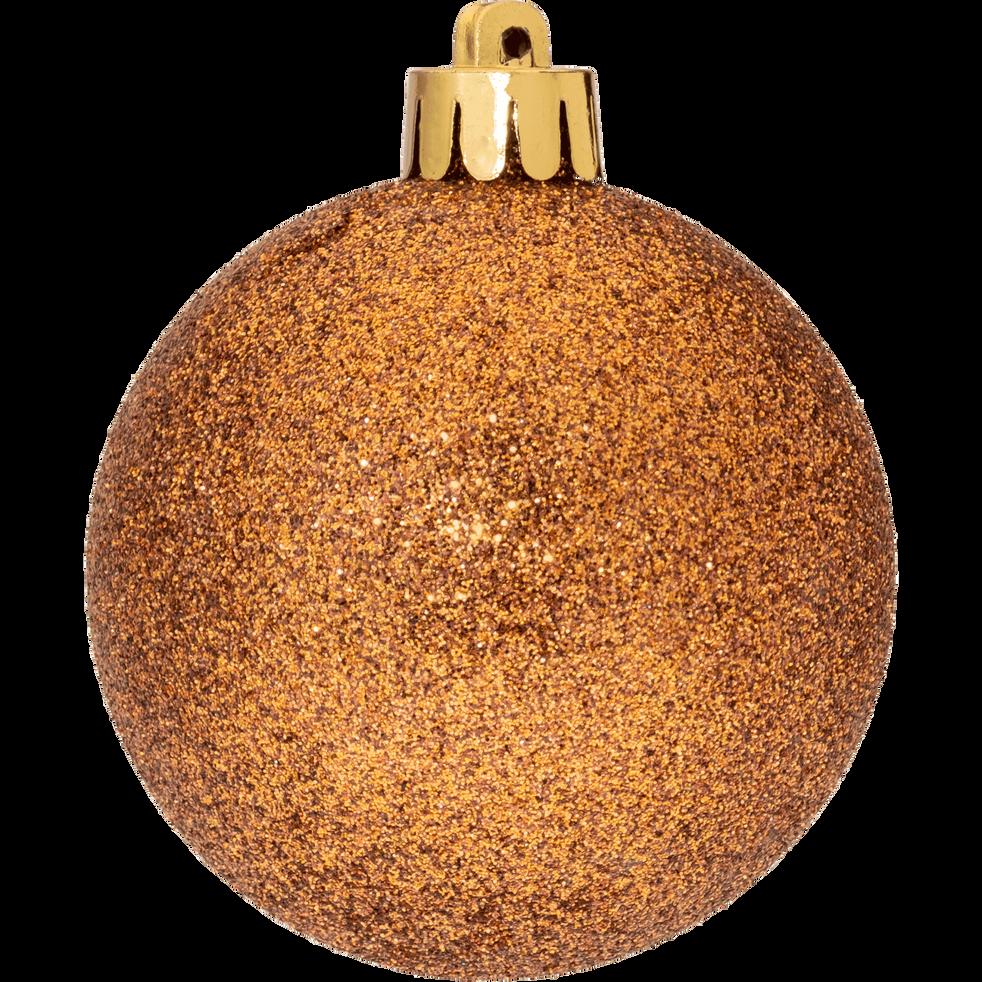 Lot de 33 décoration de Noël cuivré-Peire